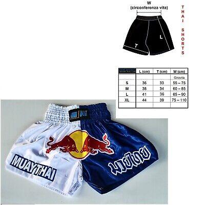 pantaloni corti pantaloncini muay thai boxe kick boxing mma sanda satinati bulls