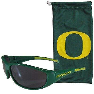 Oregon Ducks Wrap Sunglasses with Microfiber Bag NCAA (Ducks With Sunglasses)