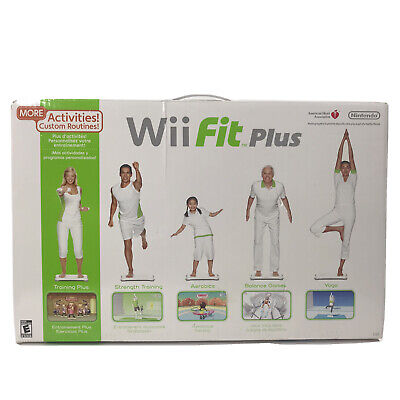 Nintendo Wii Fit Plus Exercise Fitness Workout Yoga Balance Board Game Complete