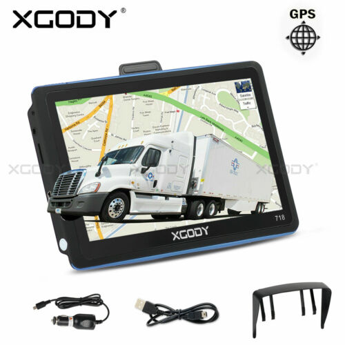 "XGODY 718 7"" Inch Car & Truck GPS Navigation System 8GB for US Canada Mexico"