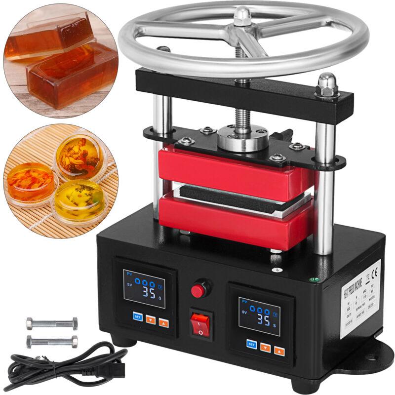 "Hand Crank Rosin Press Machine Duel Heated Plates Heat Transfer 2.4""X4.7"" 900W"