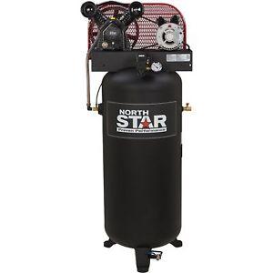 NorthStar Electric Air Compressor- 3 HP, 60-Gallon Vertical Tank
