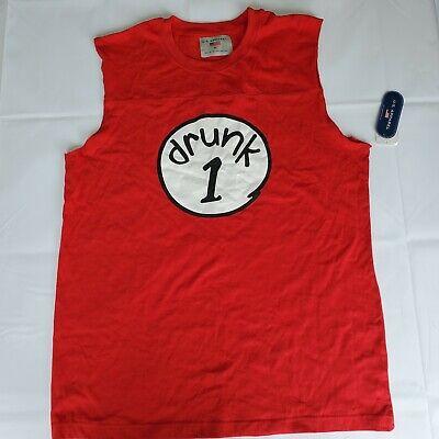 New Red Men Drunk 1 Halloween Sleeveless T Shirt Funny Sz XL](Redman Halloween)