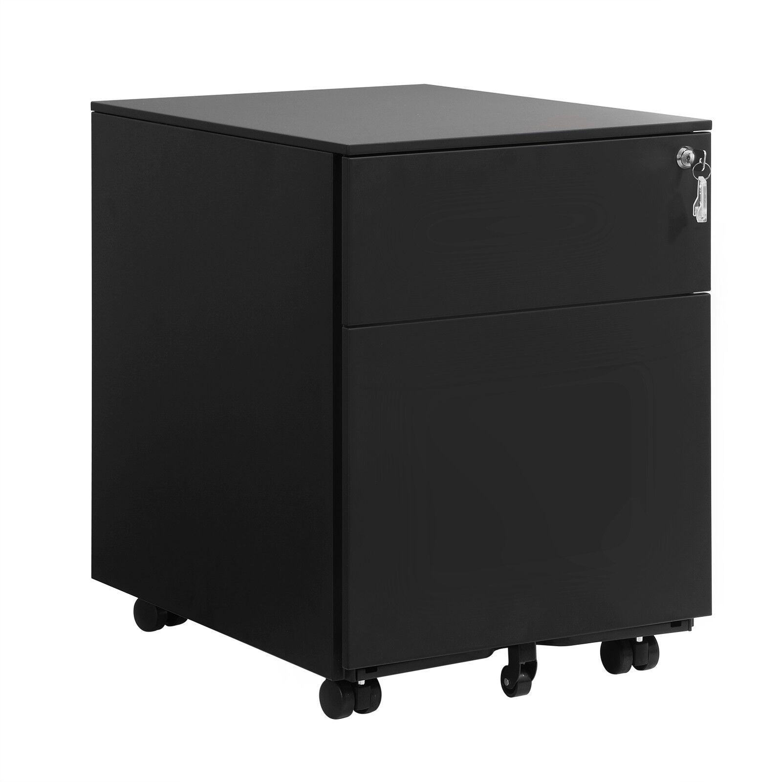 Rollcontainer Schreibtisch Stahlcontainer Büroschrank Rollwagen Metalls OFC50BK