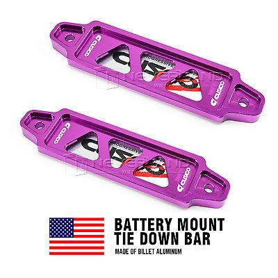 Billet Aluminum Car Battery Tie Down Holder Mount Bracket Brace Bar