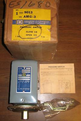 Square D 9013 Amg-3 Industrial Pressure Switch New