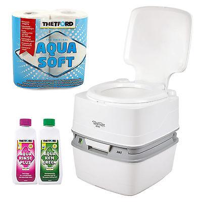 Porta Potti Qube 365 Campingtoilette 21Ltr Toilettenpapier Chemie für Wohnwagen