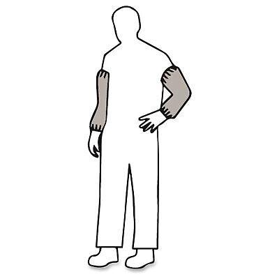 Malt Polylite Sleeve Covers - 18 Length - White - Polypropylene - Elastic Ends