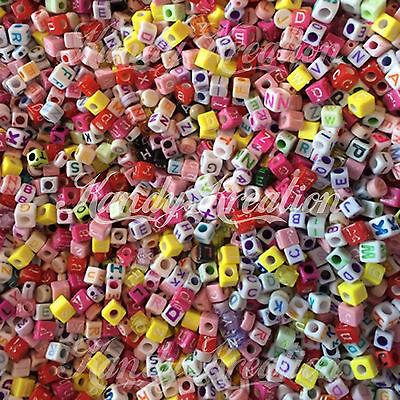 Letters Grab Bag Beads 8oz Alphabet for Kandi Craft Kid Bracelet Scout -