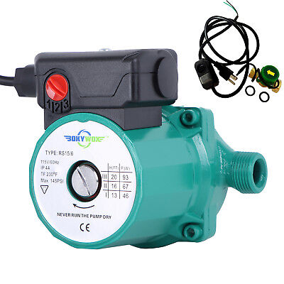 110-120v Automatic Circulating Pump Npt34 3-speed Hot Water Circulator Pump