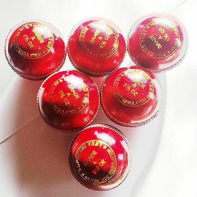 Premium-Qualität Streichholz Leder 4 Stück Cricketball Herren 156ml Handgenähter
