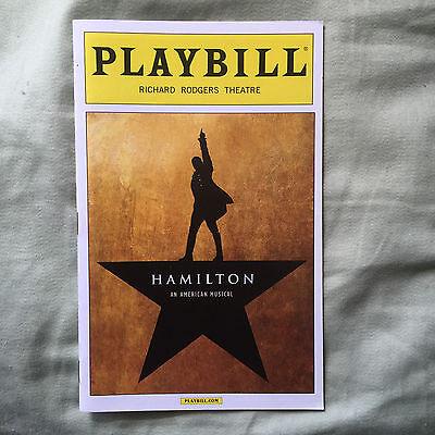 Hamilton playbill August 2015 Broadway NYC Jonathan Groff Lin-Manuel Miranda