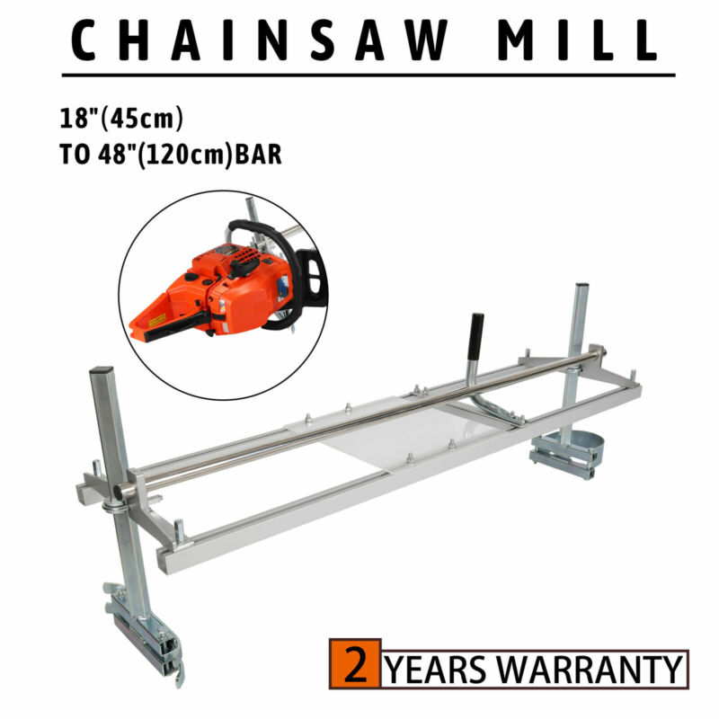 "Portable Chainsaw mill 48"" Inch Planking Milling Bar Size 18"" to 48"""