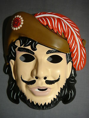 VINTAGE STYLE CAPTAIN HOOK PIRATE HALLOWEEN MASK PVC (Pirate Mask Halloween)