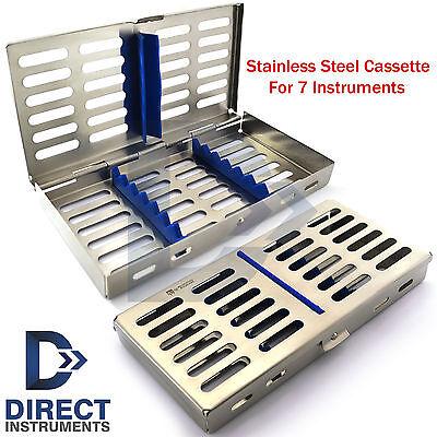 Stainless Steel 7 Pcs Dental Instruments Mesh Tray Cassette Sterilization Box Ce