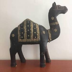 Decorative Wooden Camel Preston Darebin Area Preview