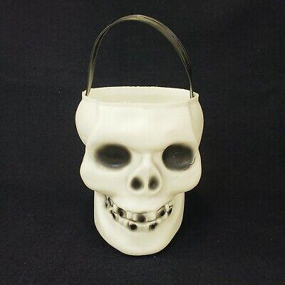 Empire Skeleton Head Blow Mold Skull Trick Or Treat Bucket Pail Halloween Vtg