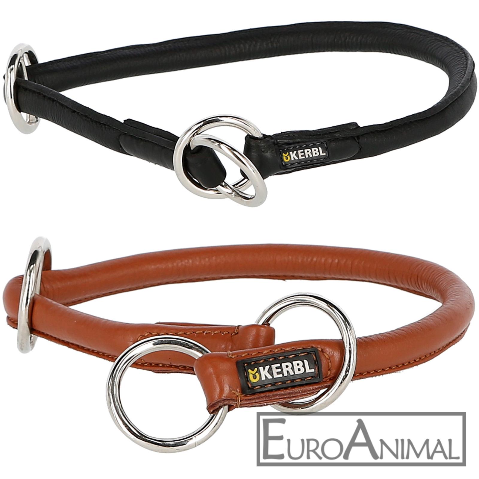 Rundleder Würgehalsband ROMA Würger mit Stopper Hunde Halsband Lederhalsband