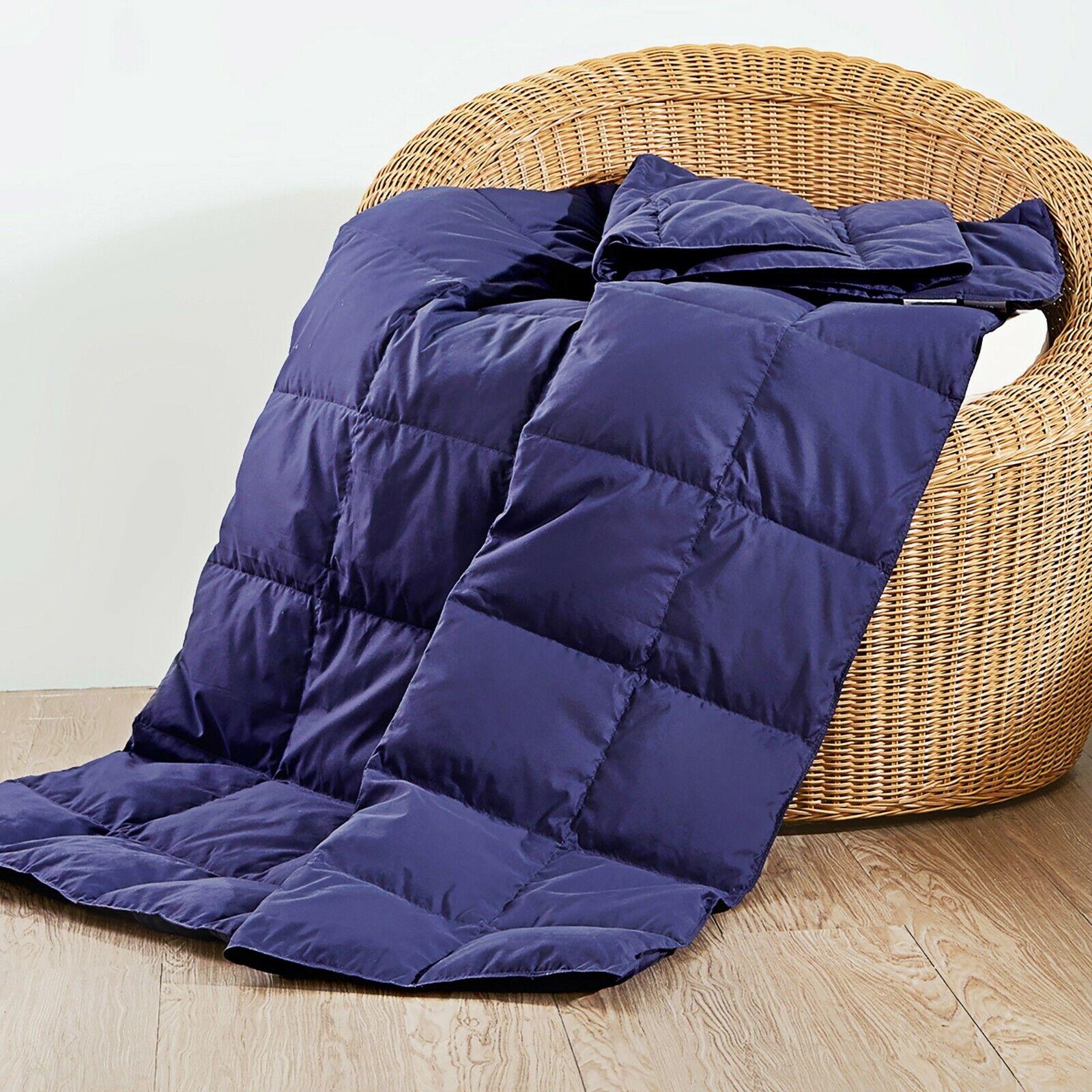 down throw blanket portable smart travel blanket