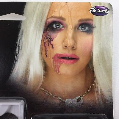 Halloween Melted Doll Makeup Kit Pink Lipstick 3-D Effect Eyelashes Horror Scary
