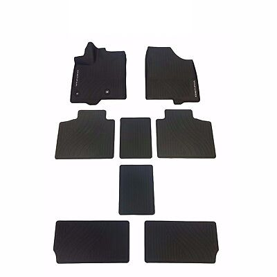 Toyota Sienna 2013-2017 All Weather Rubber Tub Floor Mats Genuine PT908-08170-02