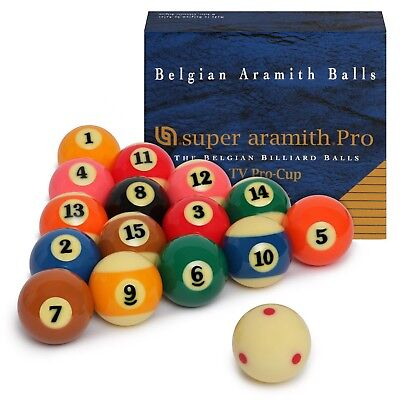 "Super Aramith Pro-Cup TV Billiard Pool Ball set 2 1/4"""