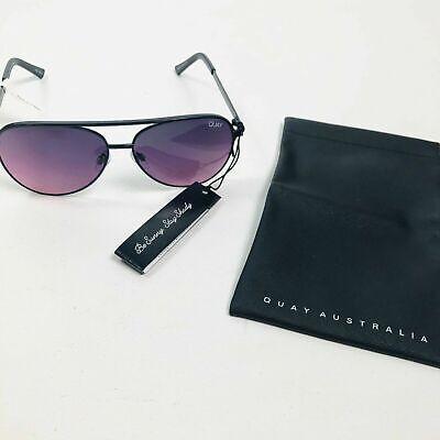 NWT Quay Australia Vivienne Mini Sunglasses Black Purple Gradient Lens (Vivienne Sunglasses)
