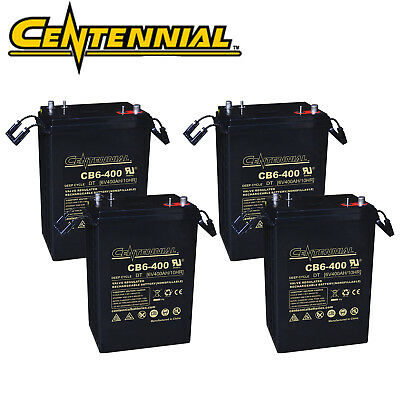 4x Centennial CB6-400 6V 400A  L-16 AGM Batteries For Golf Carts, Solar Power for sale  North Las Vegas