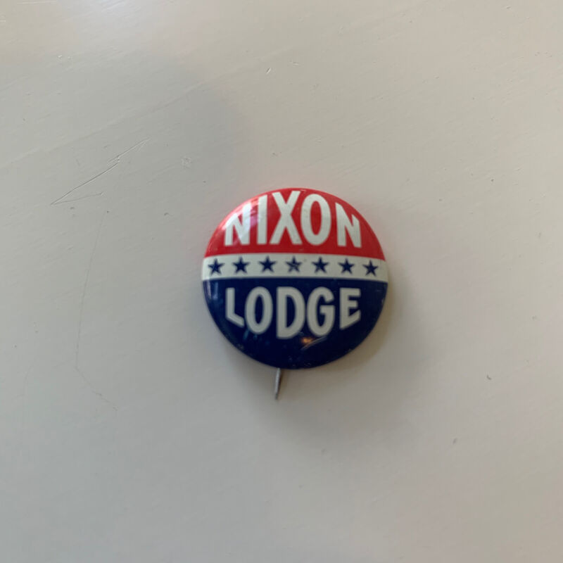 Nixon Lodge Red White Blue 7 Stars Political Pin Button