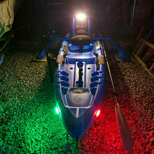 4pcs Red Green Boat Navigation LED Lights Stern Lights Boats Starboard Light 12V Car Electronics Accessories