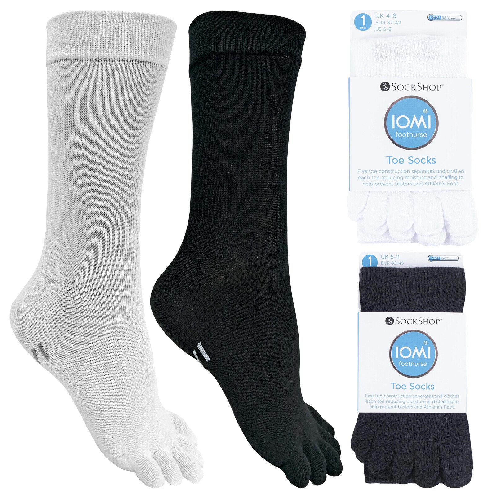 IOMI - Mens & Womens Lightweight Coolmax Cotton Toe Socks fo