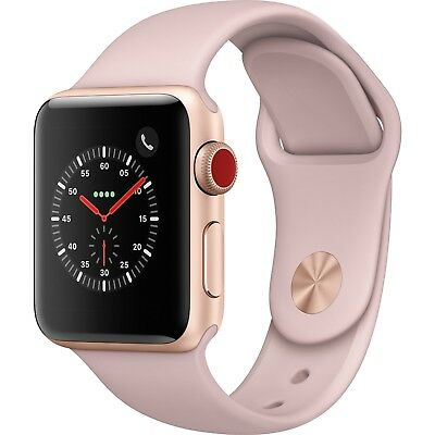 Apple Watch Series 3 38mm Rose Gold Aluminium w/Pink Sport Band GPS & Cellular