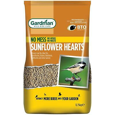 Gardman Sunflower Hearts For Bird Feeding, High Energy & Oil Rich - 12.75 Kg Bag