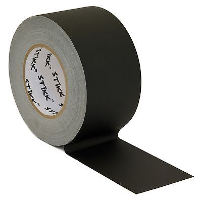 """3"""" x 60 Yard 55 Meter Black Gaffers Tape No Residue Cloth Matte Finish Rubber"""