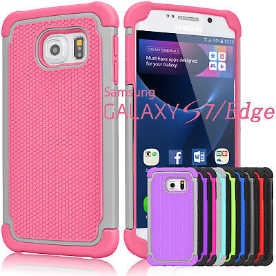 Armor Shockproof Rugged Rubber Hard Case Cover For Samsung Galaxy S7   S7 Edge