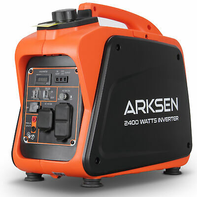 2400W Super Quiet Portable Gas-Powered Inverter Generator CARB EPA Compliant