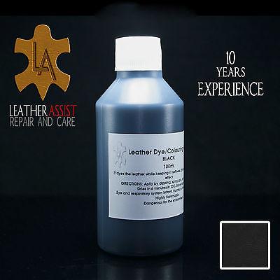 Black Leather Colour Dye LEXUS LX LS IS ES GS RX For Interior Seats Repair 100ml