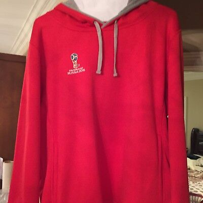 3f037d41e1b New FIFA Russia 2018 World Cup Hoodie NWT Red XL