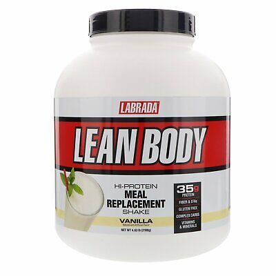 Labrada Nutrition Lean Body Hi-Protein Meal Replacement Shake Vanilla 4 63