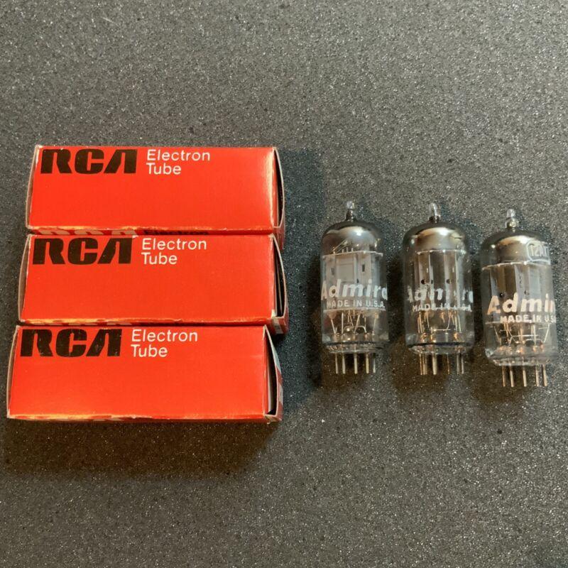 Rare RCA ECC83 12ax7 D-Getter 17mm tubes 7025 B339 12ax7a 6681 Look!