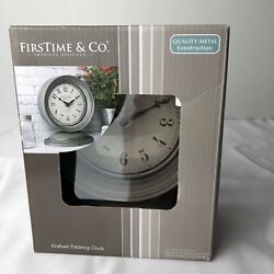 Firstime & Co Graham Tabletop Clock Metal NEW