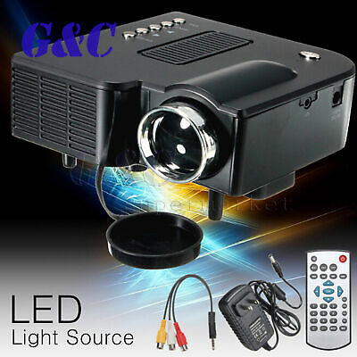 UC28+ Portable LED Projector Cinema Theater Mini Projector USB/SD/AV