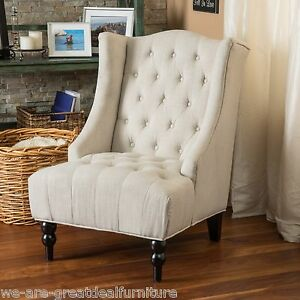 Tufted Wingback Chair Ebay