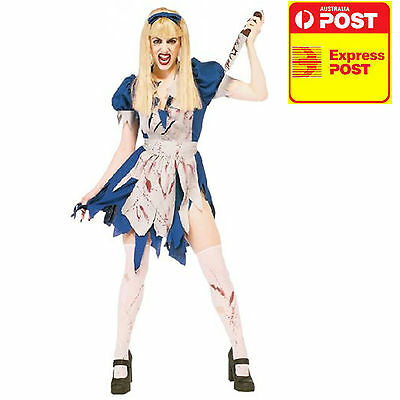 MALICE IN HORROR LAND ALICE IN WONDERLAND LICENSED COSTUME L 14-16