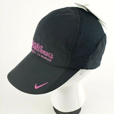 Womens Nike FIT DRY Strapback Hat Cap One Size Fits Most Black Pink