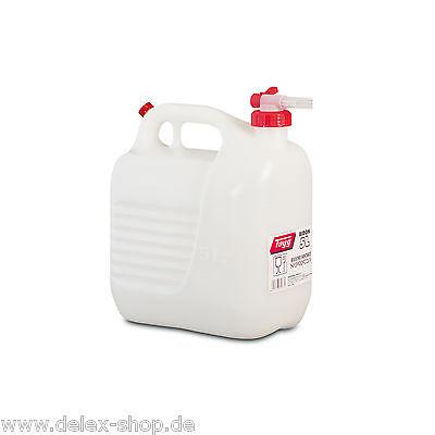 Wasserkanister Lebensmitteltank mit Hahn ohne Gluckern Kanister 5L / 5 Liter NEU
