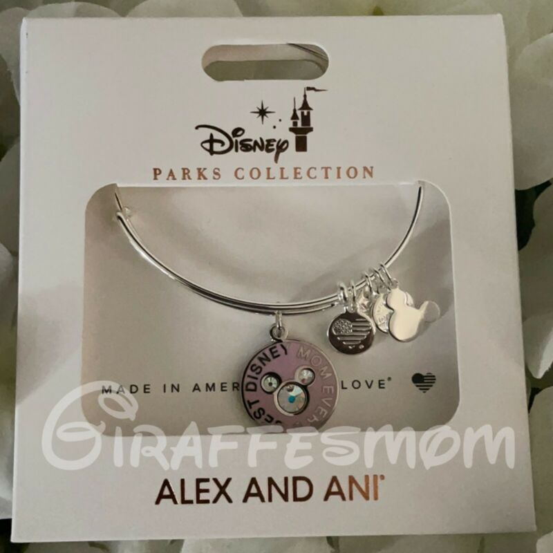 Disney Alex and Ani Mickey Best Disney Mom Ever Bangle Bracelet NWT