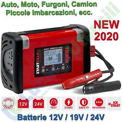 Avviatore Booster Tester x Batterie Auto Camion 12/19/24V TELWIN STARTZILLA 3024