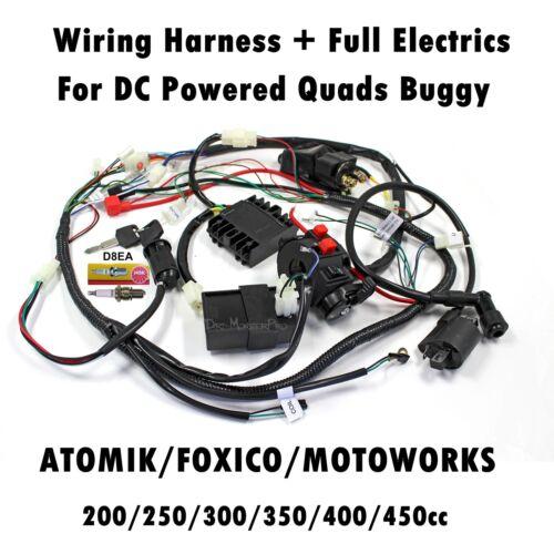 [SCHEMATICS_48EU]  Complete Wiring Harness Loom 200/250/300cc 350cc 400cc 450cc ATV Quad Bike  Buggy | eBay | 250cc 300cc Wiring Harness |  | eBay