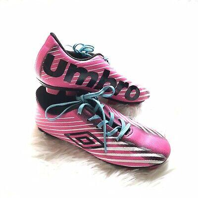 24b8e4afdaa7 Umbro Girls Arturo 2.0 Soccer Cleats Pink Black Size 12K